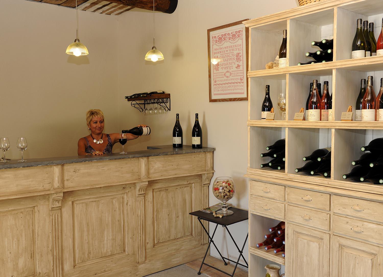 La boutique du Domaine de la Verrière vin de Provence Luberon AOP Ventoux